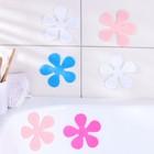 Набор мини-ковриков для ванны Доляна «Цветочек», 10,5?10,5 см, 6 шт, цвет МИКС