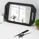 Зеркало с ручками, зеркальная поверхность 19,5 × 28 см, цвет чёрный
