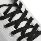 Шнурки для обуви, пара, плоские, 7 мм, 160 см, цвет чёрный