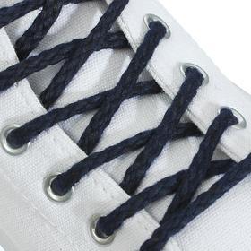 Шнурки для обуви, пара, круглые, d = 5 мм, 180 см, цвет синий Ош