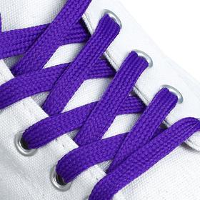 Шнурки для обуви, пара, плоские, 7 мм, 120 см, цвет фиолетовый Ош