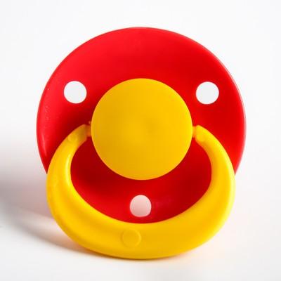 Соска-пустышка латексная классическая «Ягодка» с кольцом, от 0 мес., цвета МИКС - Фото 1