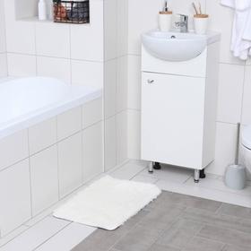 Коврик прямоугольный Доляна «Пушистик», 40×60 см, цвет белый