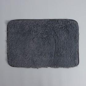 Коврик Доляна «Пушистик», 40×60 см, цвет серый