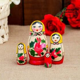 """Матрешка """"Семеновская"""", 4 кукольная, высшая категория"""