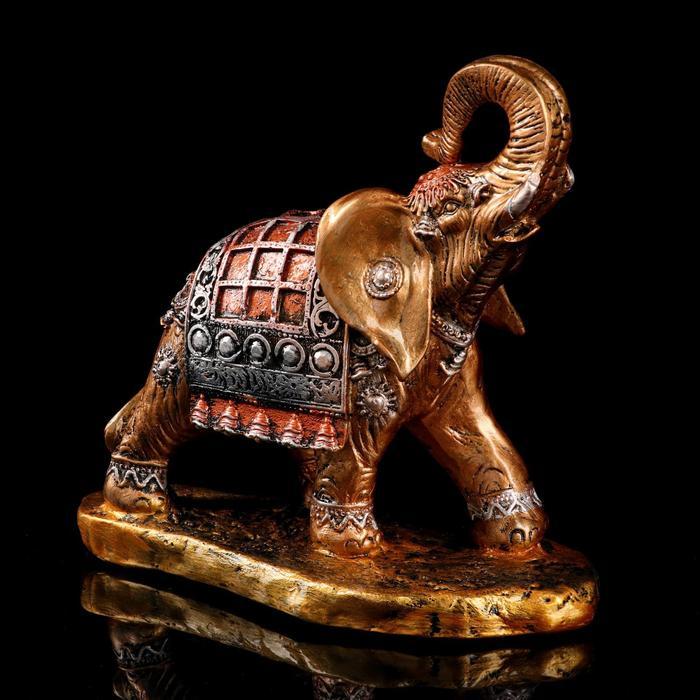 """Сувенир """"Слон бегущий"""" 27 см, цвет бронзовый"""