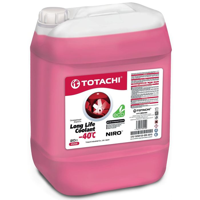 Totachi NIRO SUPER LLC RED -40 C, 20 л