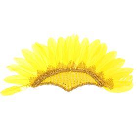 Карнавальный головной убор «Перья», на резинке, цвет жёлтый Ош