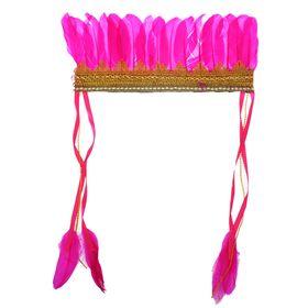 Карнавальный головной убор «Пёрышки», на резинке, цвет фуксия Ош