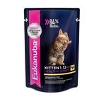 Влажный корм EUK Cat для котят, курица в соусе, пауч, 85 г