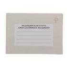 Медицинская карта амбулаторного больного А5, 100 листов, обложка ламинированный картон, блок газетная-бумага 48 г/м2