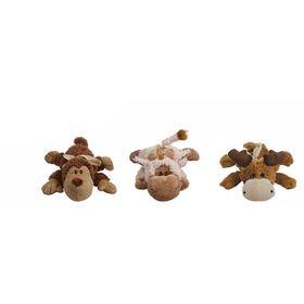 """Игрушка Kong """"Кози Натура""""  для собак  (обезьянка, барашек, лось) плюш, маленькие, 13 см"""