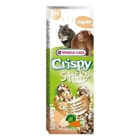 Палочки VERSELE-LAGA Crispy для хомяков и крыс, с рисом и овощами, 2х55 г