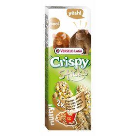 Палочки VERSELE-LAGA Crispy  для крыс и мышей, с попкорном и орехами, 2х55 г