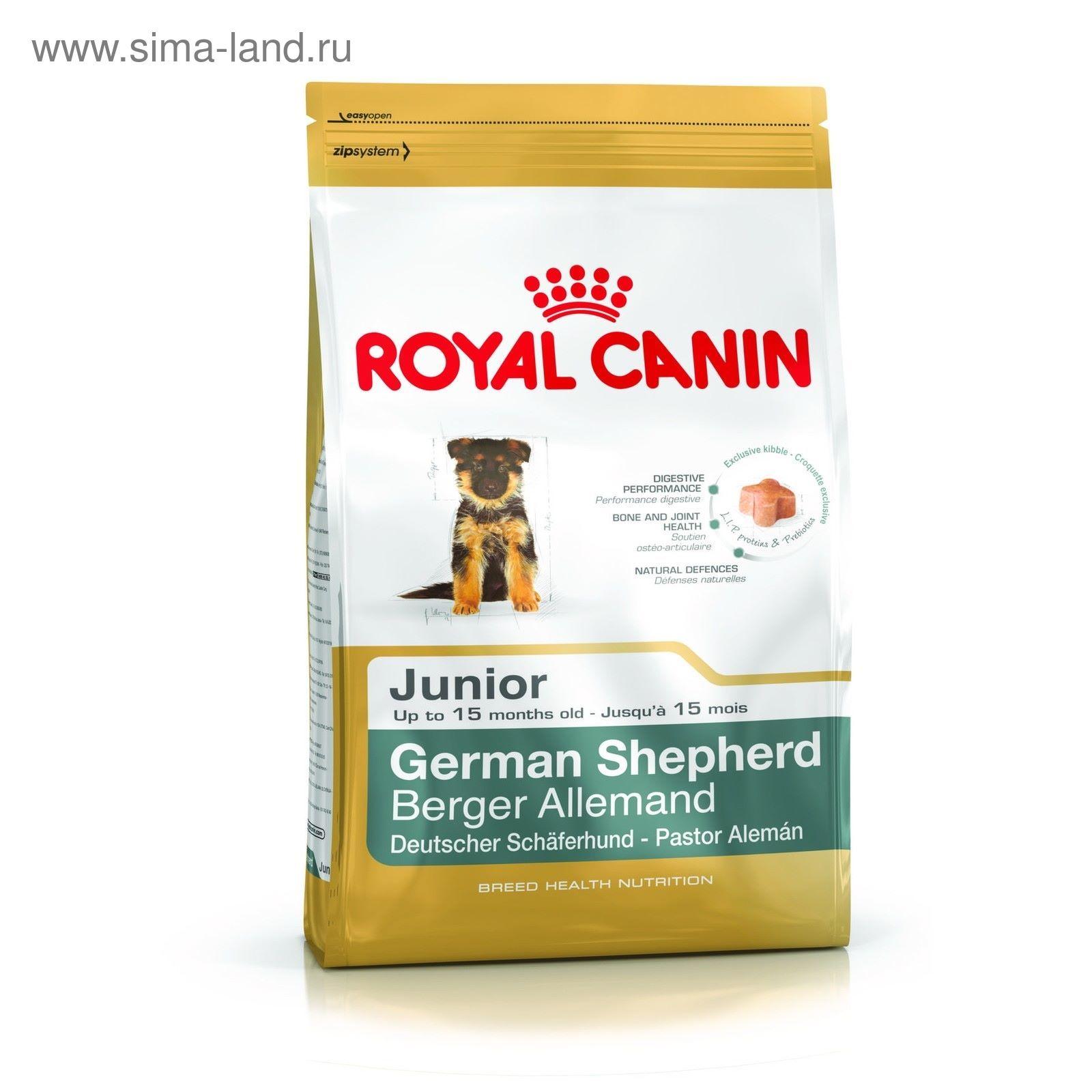Сухой корм royal canin german shepherd junior