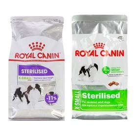 Сухой корм RC x-Small Sterilised для стерилизованных собак, 500 г Ош