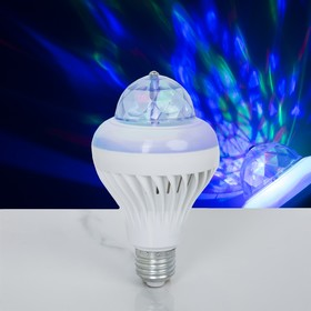 Лампа хрустальный шар диаметр 8 см. два режима, V220, цоколь Е27 Ош