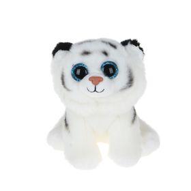 Мягкая игрушка «Тигрёнок Tundra», цвет белый, 20 см