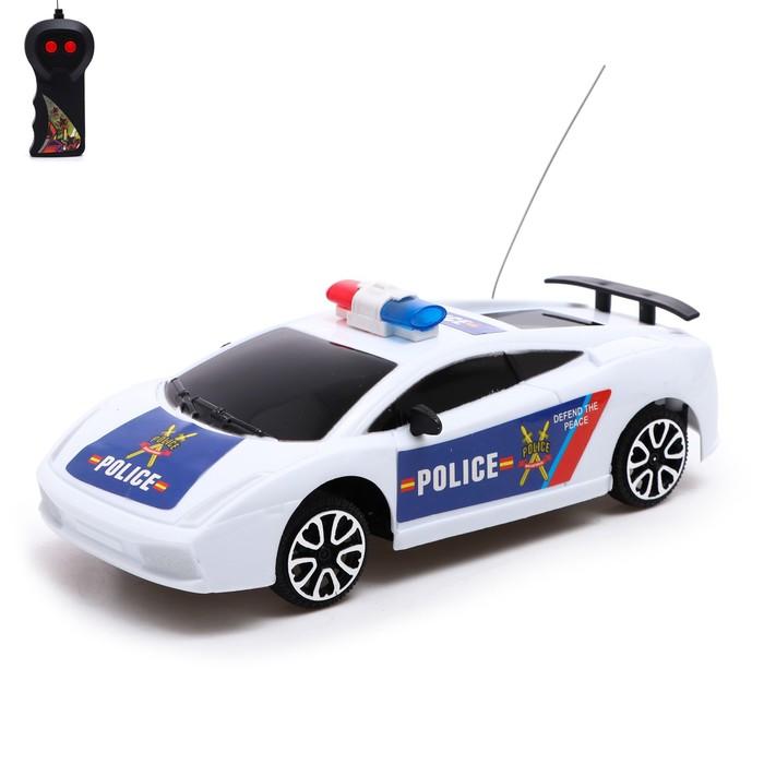 Машина радиоуправляемая Полицейский патруль, работает от батареек, МИКС