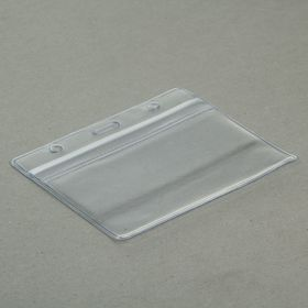 Бейдж-карман горизонтальный (внешний 98 х 81 мм), внутренний 55 х 95 мм, 20 мкр с защелкой зип Ош