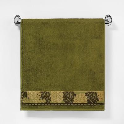 """Полотенце махровое """"Этель"""" Flabello, нефритовый 50*90 см бамбук, 460 г/м2"""