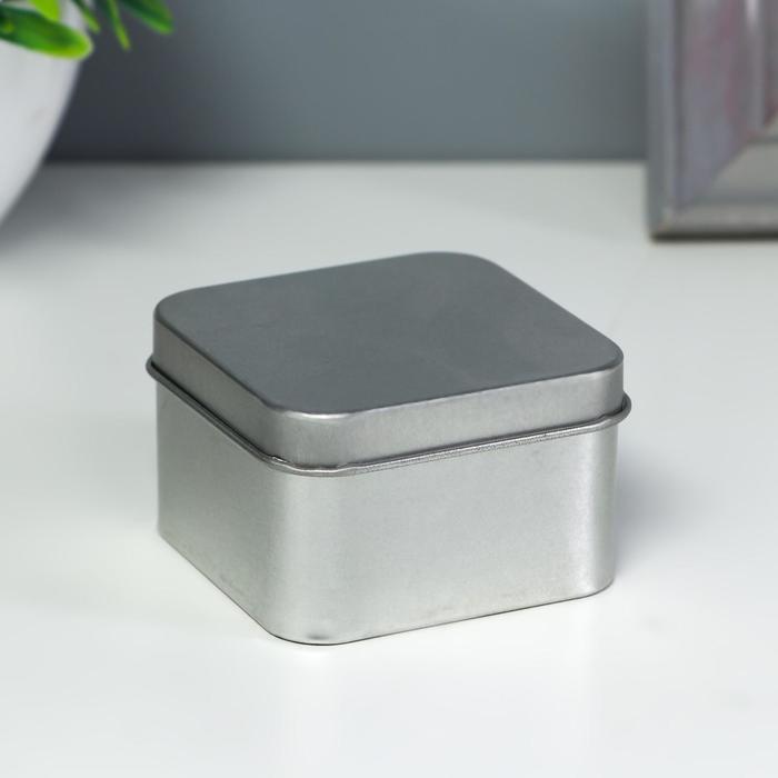 Шкатулка Квадрат серебряный