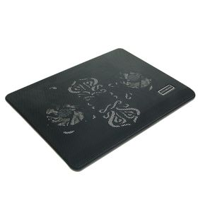Подставка для охлаждения ноутбука LuazON с LED, 2 кулера, провод 40 см, черная Ош
