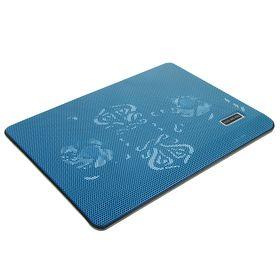 Подставка для охлаждения ноутбука с LED подсветкой, 2 кулера, провод 40 см, синяя Ош