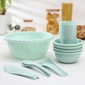Набор посуды на 4 персоны 'Фазенда', цвет МИКС Ош
