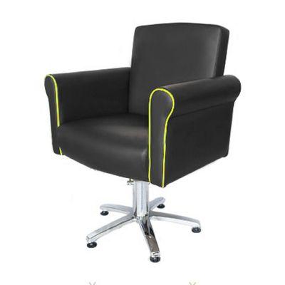 """Кресло """"Престиж"""", гидроподъемник, пятилучье хром, цвет чёрный, кант фисташковый"""