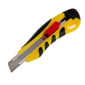 Нож универсальный TOPEX, прорезиненный корпус, квадратный фиксатор, усиленный, 18 мм