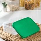 Набор контейнеров пищевых прямоугольных Доляна, 3 шт: 150 мл, 500 мл, 1,2 л, цвет зелёный - Фото 4