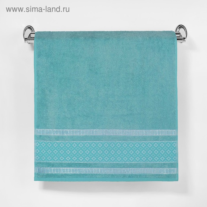 """Полотенце махровое """"Этель"""" Bambolina, мятный 50*90 см бамбук, 460 г/м2"""