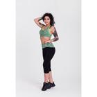 Спортивный топ ONLITOP Fitness time, размер 46-48, цвет зелёный
