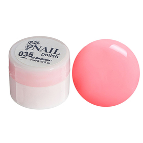 Гель-краска для ногтей трёхфазный LED/UV, 8мл, цвет 35 неоновый розовый