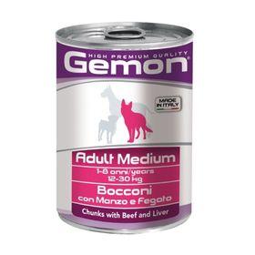 Влажный корм Gemon Dog Medium для собак средних пород, говядина с печенью, ж/б, 415 г