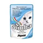 Влажный корм Simba Cat Pouch для кошек, форель с треской, пауч, 100 г