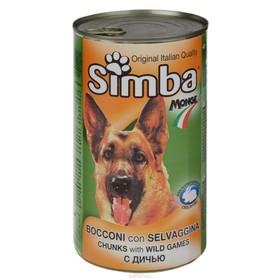 Влажный корм Simba Dog для собак, кусочки дичи, ж/б, 1230 г