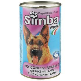 Влажный корм Simba Dog  для собак, кусочки ягненка, ж/б, 1230 г