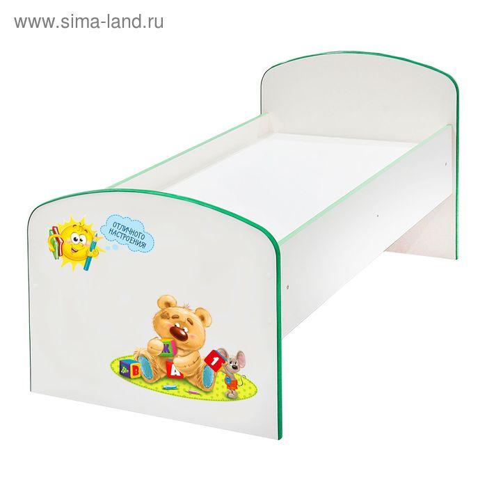 Купить со скидкой Детская кроватка «Весёлые друзья», ЛДСП