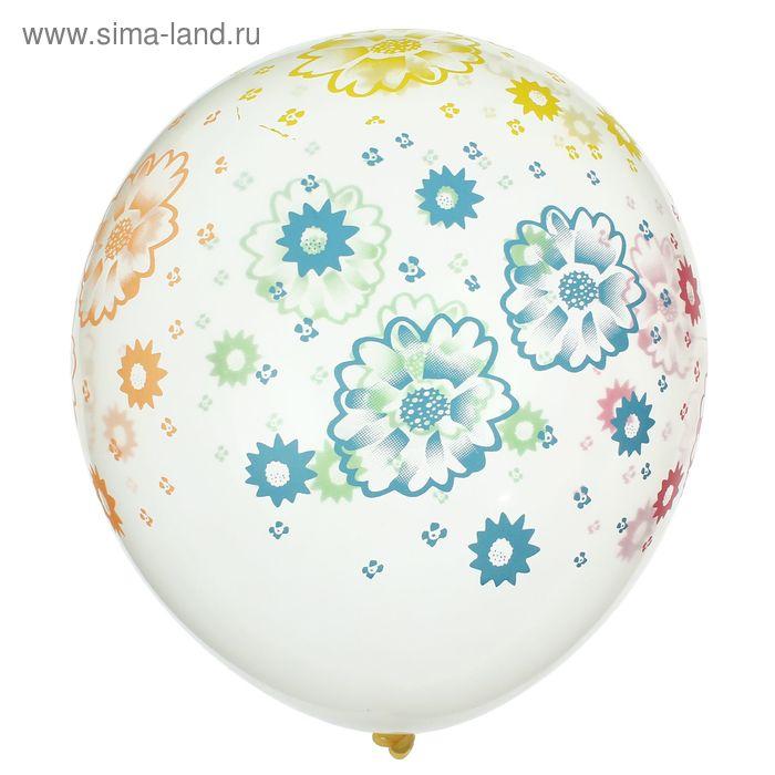 """Набор воздушных шаров """"Цветочки"""" 5 шт. 10"""""""