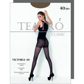 Колготки женские Victoria 40 den, цвет чёрный (nero), размер 3