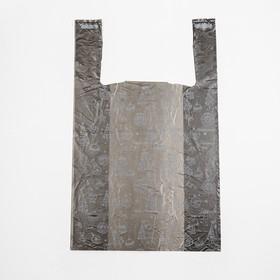 Пакет 'Золотые снежинки', полиэтиленовый майка, 28 х 50 см, 12 мкм Ош