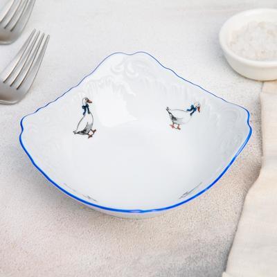 Салатник «Рококо. Гуси», 14×14 см - Фото 1