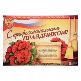 Плакат 'С профессиональным праздником' Ош