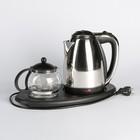 Набор чайный Irit IR-1502, чайник 1.5 л + заварочный чайник 0.8 л, 1500 Вт, металл