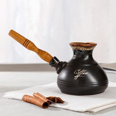 "Турка для кофе ""Средняя"", керамика, 0.4 л - Фото 1"