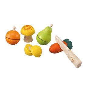 Набор «Фрукты и овощи» на липучках, 6 предметов
