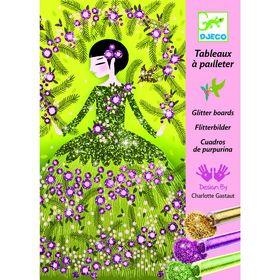 Раскраска блестками «Блестящие платья»