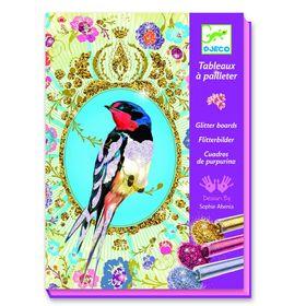 Раскраска блестками «Блестящие птицы»